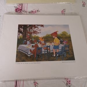 Winnie the Pooh Print ( I Think We Ought To Play )
